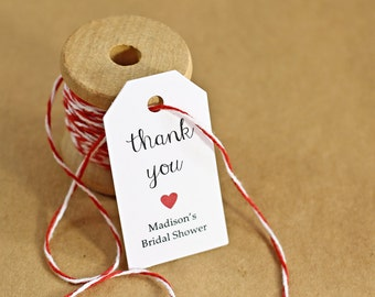 Wedding Favor Tags, Gift Tags, Thank You Tags, Bridal Shower, Party Favor, Personalized Favor Tags - Set of 25 (SMGT-JSS)
