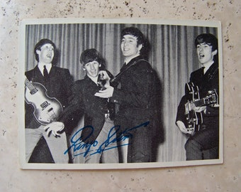 Vintage Beatles Trading Card 1960s Ringo Star Bubble Gum Trading Card