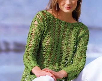 Crochet for  Girls and Woman sumer sweater Pattern INSTRUCTION only, PDF Files