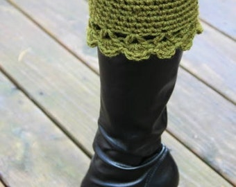 Boot Cuffs in Green