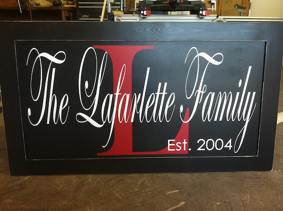 Huge 30x54 inch wood sign Family Established Year Custom