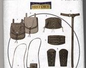 Butterick B5371 Costume Pattern Accessories Pouches Corset Belt Bracers