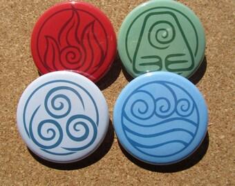 Avatar Elements pins set of 4