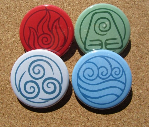 Avatar Elements pins set of 4