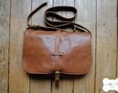 "light brown leather handbag ""Paulette"""