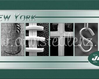 Jets Football Alphabet Photo Collage