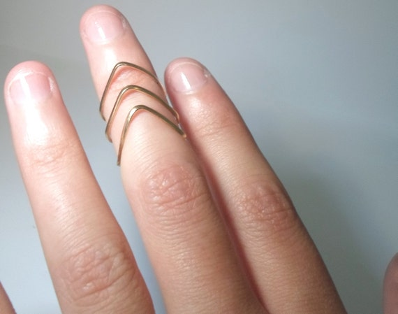 Above the Knuckle Single Brass Ring