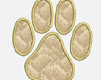 Animal Paw...Embroidery Applique Design...Three sizes for multiple hoops...Item1319..INSTANT DOWNLOAD