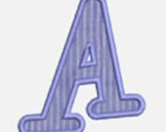 Applique Alphabet A-Z ...Embroidery Applique Design 29...Three sizes for multiple hoops...item1177...INSTANT DOWNLOAD