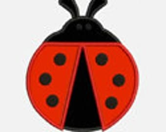 Lady Bug...Embroidery Applique Design...Three sizes for multiple hoops...Item1248.. INSTANT DOWNLOAD