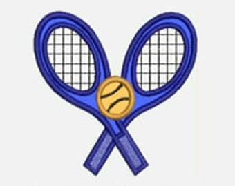 Tennis Racquets...Embroidery Applique Design...Three sizes for multiple hoops...Item1433...INSTANT DOWNLOAD