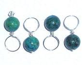SALE - 20% OFF - Chrysoprase Gemstone Knitting Stitch Markers - Set of 4
