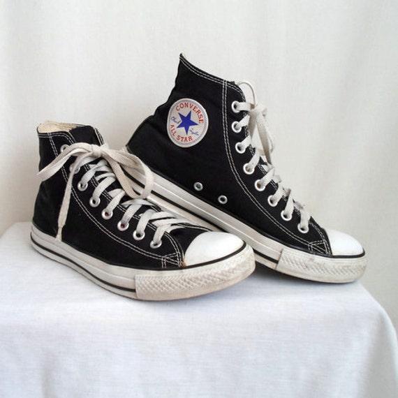 Black & White High Top Converse Shoes