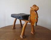 Vintage Camel Stool