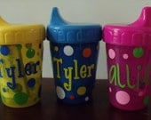 Personalized Polka Dot 8 oz Sippy Cup