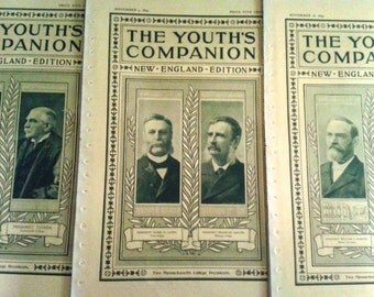 1899 The Youth's Companion, 3 Issues Featuring New England College Presidents
