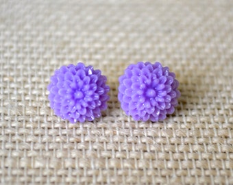 Lavender Dahlias . Studs . Earrings . Dahlia Studs Collection