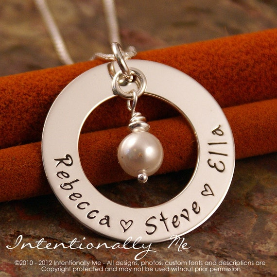 Personalized Jewerly Hand Stamped Mommy By Intentionallyme
