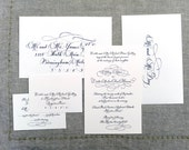 Calligraphy Wedding Invitation--Hand Written Invitation Image---The Savannah Style with Flourishes