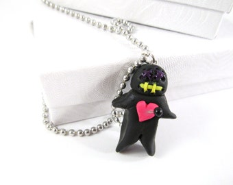 Voodoo Doll Charm, voodoo doll necklace, voodoo doll jewelry