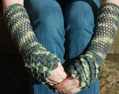 Made to Order Crocodile Stitch Wrist Warmers