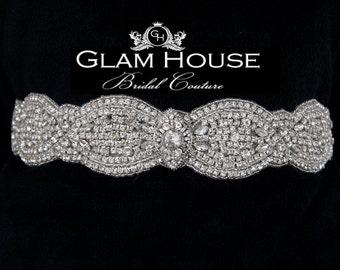 Rhinestone bridal sash,bridal Sash Belt,beaded belt,vintage wedding,rhinestone wedding belt,wedding gown belt,wedding dress sash