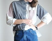 Patchwork blouse Collared Shirt