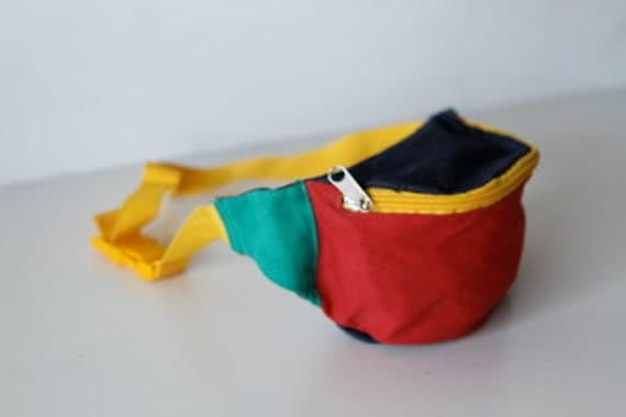 90s COLOR BLOCK bright summer FANNY pack market change bag