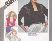 Simplicity 9810 80s Patterns Bolero Jacket Patterns Camisole Patterns Womens Size 16 Pattern Uncut Pattern Vintage Sewing SuppliesYacketUSA