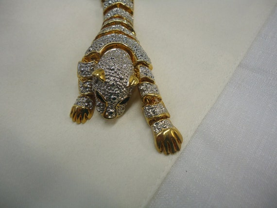 SALE TODAY ONLY Vintage Shoulder Brooch Snow Tiger Jewelry