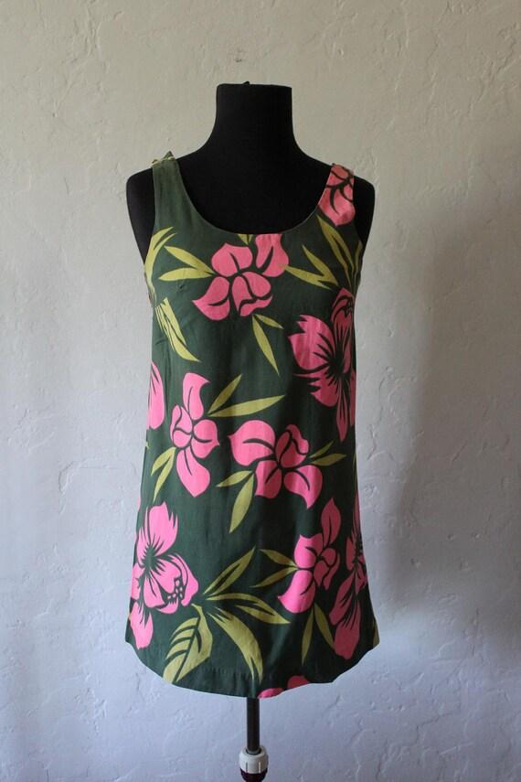 Super cute - 1960's  Mini Hawaiian Dress by The Sample Shop Waikiki - Size small
