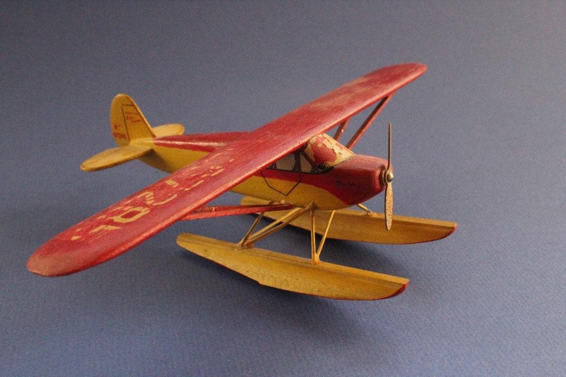 Model Plane Model Airplane Folk Art Wood Airplane Wooden