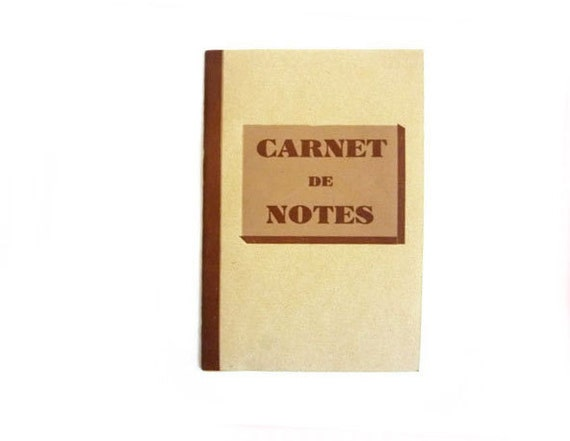 French Vintage Notebook