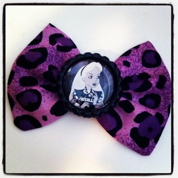 Purple Leopard Bow- Alice- Tattooed