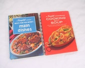 Vintage Cookbook 2 Campbell Cooking with Soup & Most-for-the-Money Main Dishes 1970s