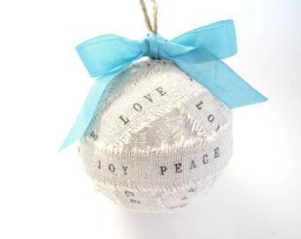 Personalized Handmade 1st Christmas Ornaments . Rag Ball Christmas Ornaments fabric ornaments