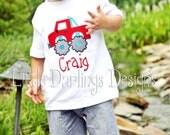Boys Appliqued and Monogrammed Monster Truck Shirt