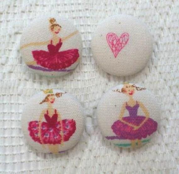Fabric Button 22mm - Ballerina B