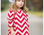 Baby Headband, Headband, Children, Flower Headband, Valentne Headband, Baby, Photo Prop / Red and White Rosette Headband - lepetitejardin