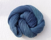 Hand Dyed Laceweight Yarn Extra Fine Merino & Silk 100g - Into the Deep