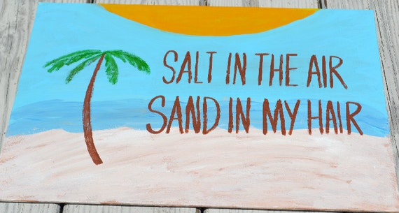 Salt in the Air Quote on 12x16 Canvas Panel