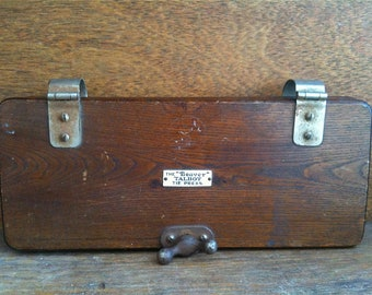 Antique English Wooden Tie Press Man's Gift circa 1910's / English Shop