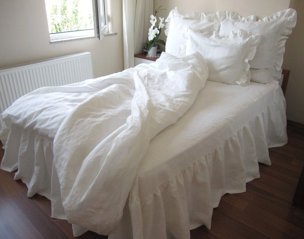 Australian King Duvet Cover With 3 Euro Sham Ivory Or White