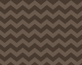 LAST PIECE 1 1/2 Yards of Capri Taupe and Tan Chevron from ADORNit