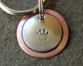 Stamped with a Paw- key chain- not personalized