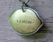 Large Lemon personalized pet id tag for the big pooches