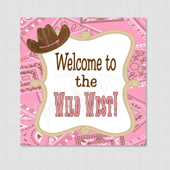 Cowgirl Collection: Printable Welcome Sign