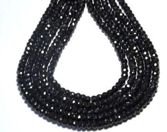 """SALE 5mm 7"""" line  BLACK SPINEL beads"""