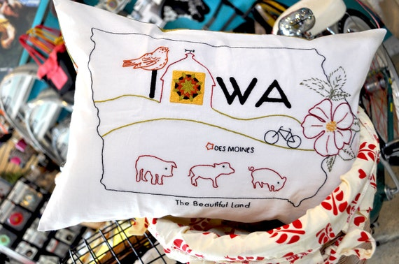 Iowa Iron On Needlework Pattern - SassySpurz Etsy Shop