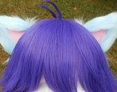 Light Blue and Pale Pink Clip on Cat Ears